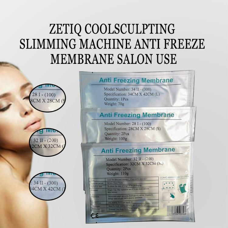 Anticongelante Membrane 27 * 30cm 34 * 42cm 28 * 28 cm anticongelantes Membrana Anti-Congelamento membranas Cryo Legal Pad Para Zeltiq Anti Congelar máquina