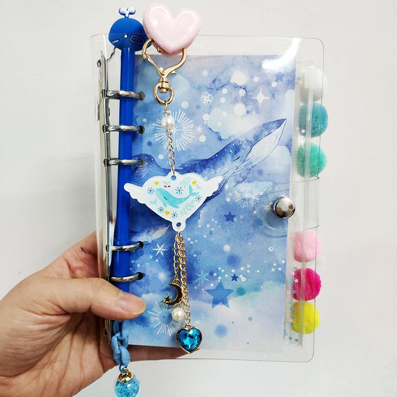 A5 A6 Solta Folha Star Conta Binder Livro Quadrado Menina Coração Cute Planejador 1 Set Diary Notebook
