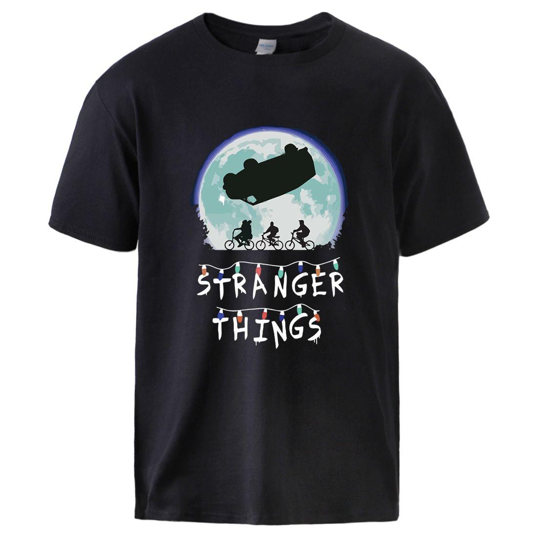 spor Yabancı şeyler Mens tişörtleri 2020 Yaz İlkbahar Pamuk Spor Tişört Erkek Kısa Kollu Tee T shirt Erkek Casual Egzersiz Üst