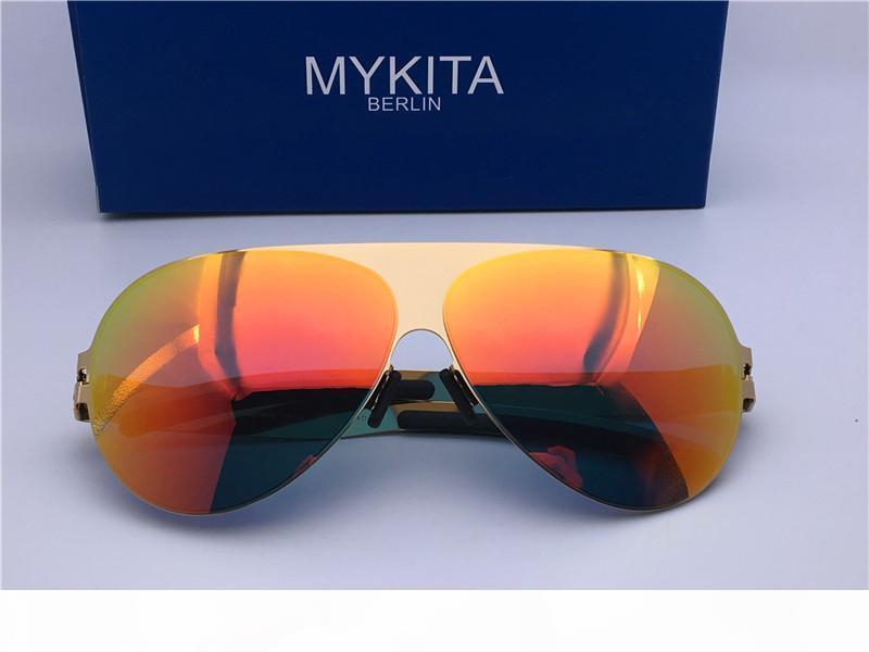 Männer Sonnenbrille für Männer Luxus-Sonnenbrillen für Frauen Designer-Sonnenbrille Stil Luxus MYKITA Franz klassischen Pilotrahmen Stil