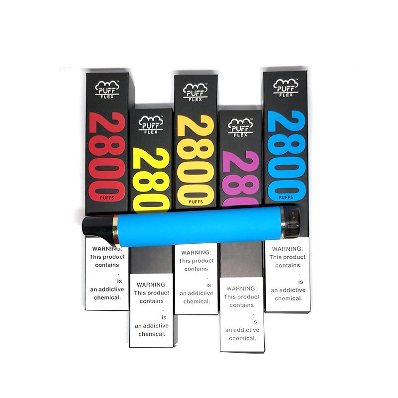 퍼프 플렉스 2800 퍼프 일회용 포드 장치 Vape 키트 850mAh 배터리 미리 채워진 5 % 유량 XXL Plus Bars에서 업그레이드