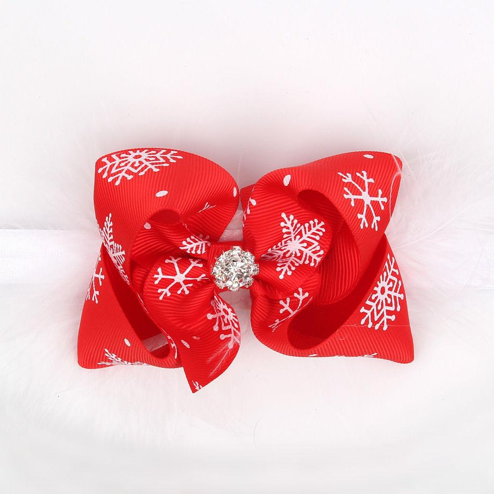Орнамент рождественские детские волосянные волосы перо лук для девочек девочек оголовье головка головной убор