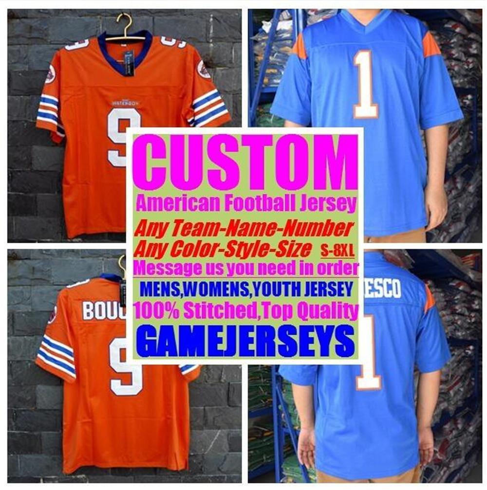Jerseys de fútbol americano de baloncesto de béisbol personalizado para hombres para mujer para mujer niños color 32 equipos deportes jersey azul 4xl 5xl 6xl