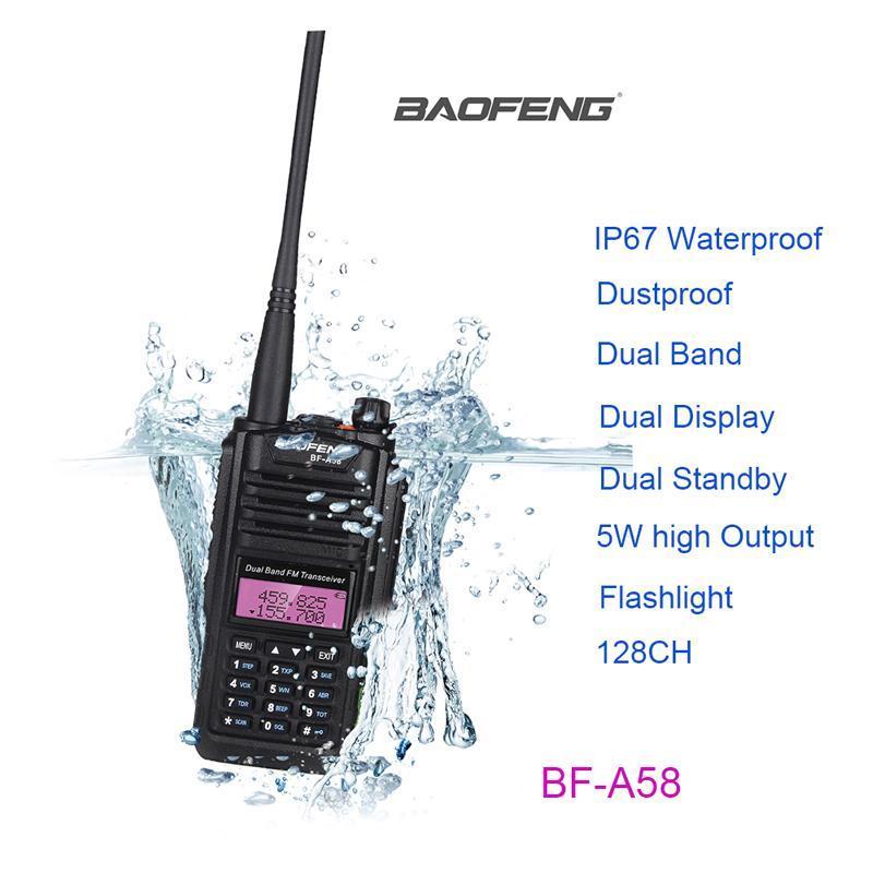 워키 토키 빠른 배달 Baofeng BF-A58 표준 액세서리가있는 양방향 라디오 작동