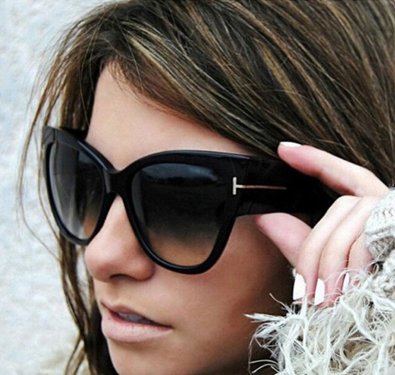Toyearn أزياء مثير السيدات القط العين النظارات النساء خمر كبير t الإطار توم التدرج نظارات الشمس jllxxv bde_jewelry