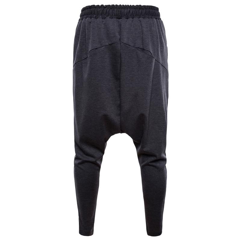 Harem Pantolon Erkekler Hip Hop Rahat Joggers Elastik Bel Pamuk Sweatpants Erkek Streetwear Orta Kilük Pantolon Ropa de Hombre 201118
