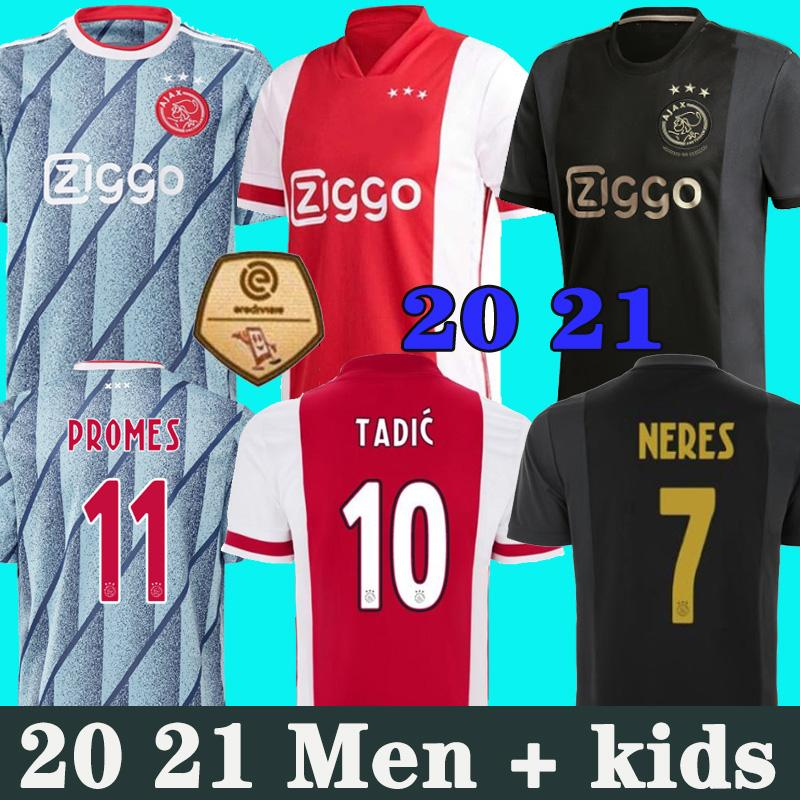 Ajax Amsterdam FC Soccer Jersey 2020 2021 Kudus Antony Blind PROMES TADIC NERES CRUYFF 20 21 UOMINI KIT KIT KIT CAMICIA DI CALCIO Uniformi terzi 50th