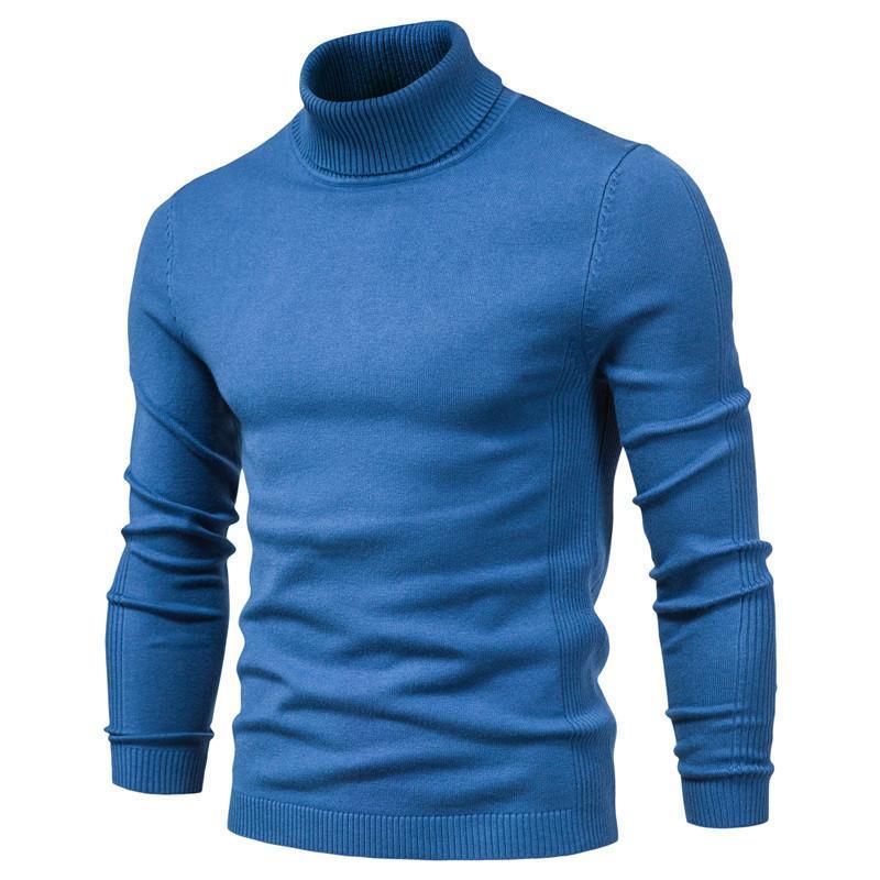 Nuovo inverno dolcevita spessi maglioni Mens Casual Collo solido caldo qualità del colore Slim dolcevita maglioni pullover uomini