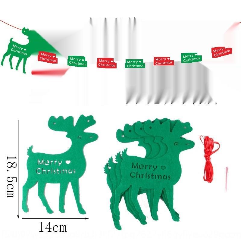X3IjD 2020 Подвеска украшения Подвесок Nonnon тканых изделий флаг Рождественская елка чувствовала Нетканое письмо Войлока 65oTW