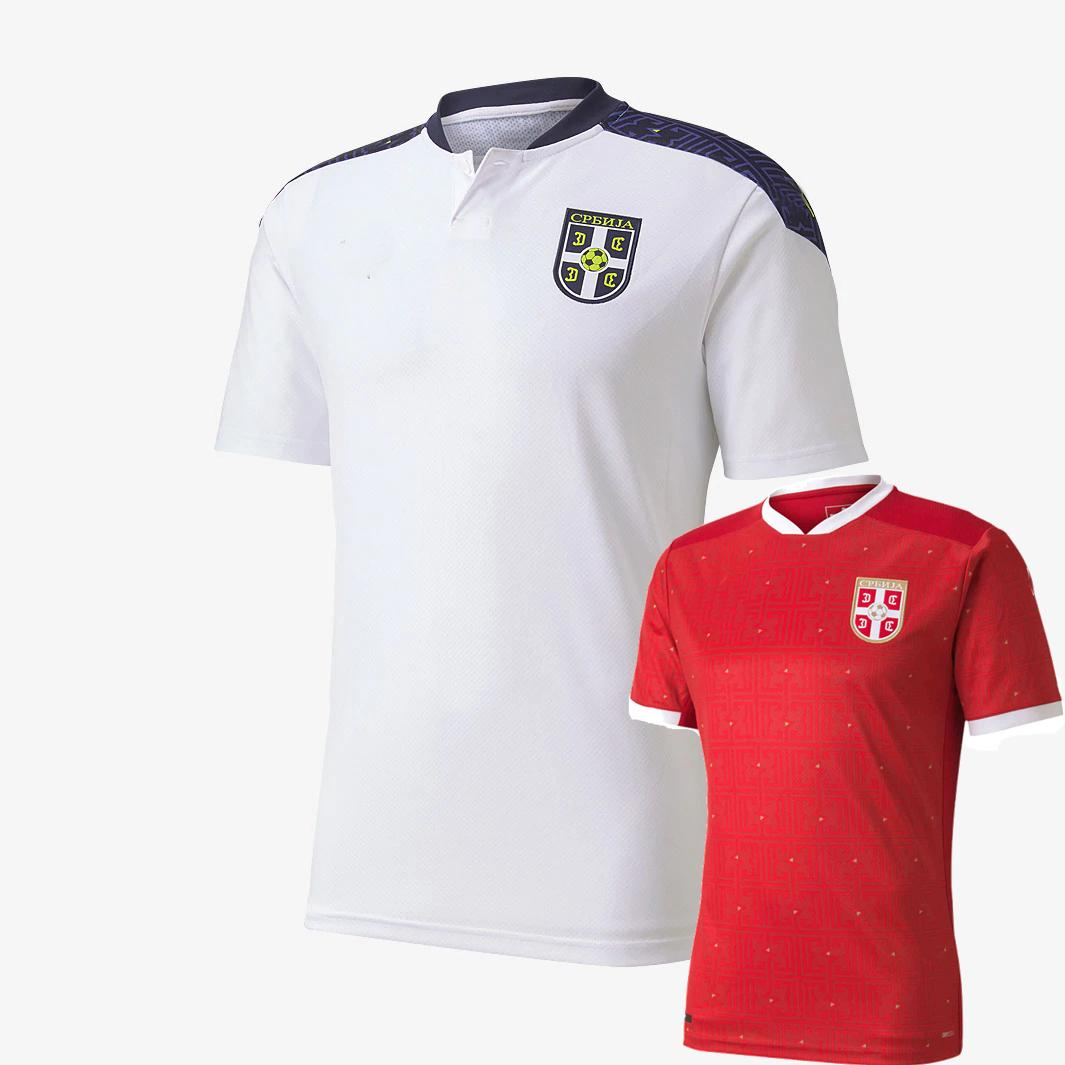 2020 2021 Serbia Soccer Jerseys Team National Team Home Away Tradonjic Mitrovic Gudelj Rajkovic Jovic 20 21 قمصان كرة القدم S-2XL