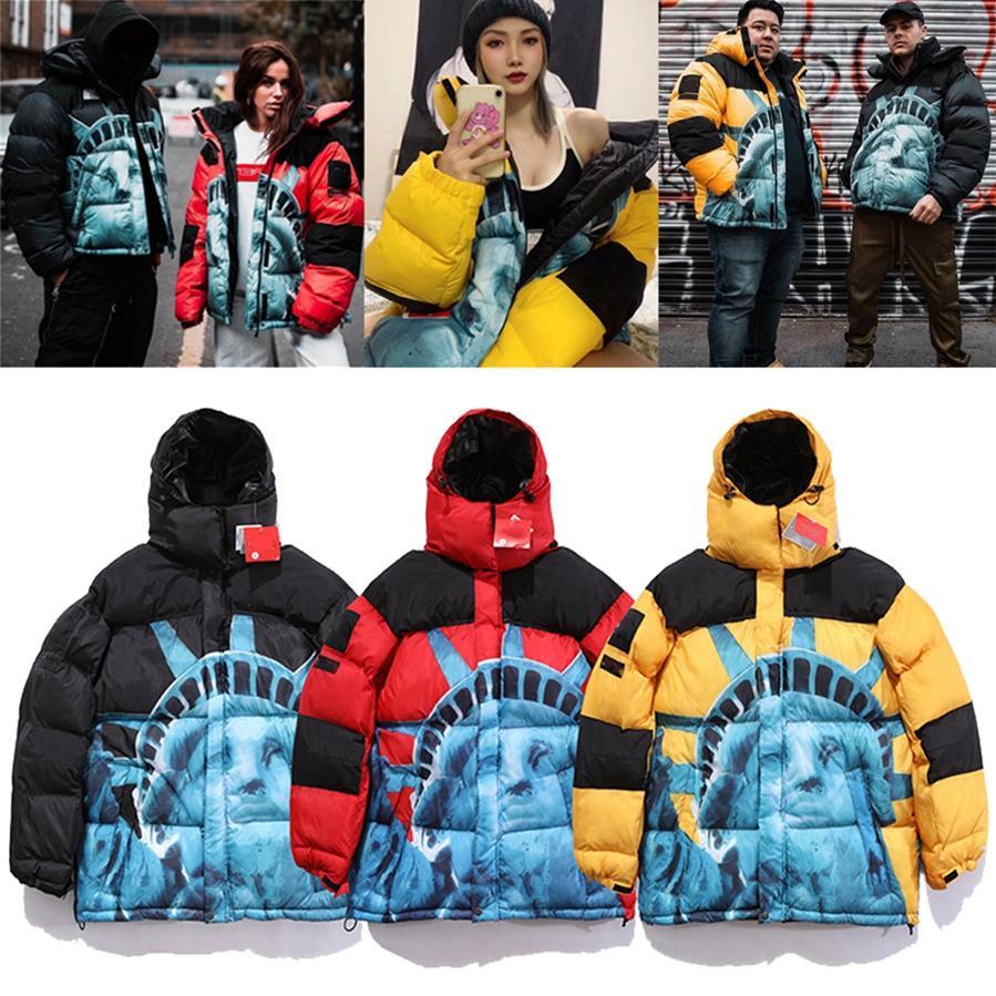 Женщины мужские Parkas зимняя верхняя одежда повседневная куртка теплый пиджак унисекс пальто вагурдные белье хип-хоп мужская улица X6102