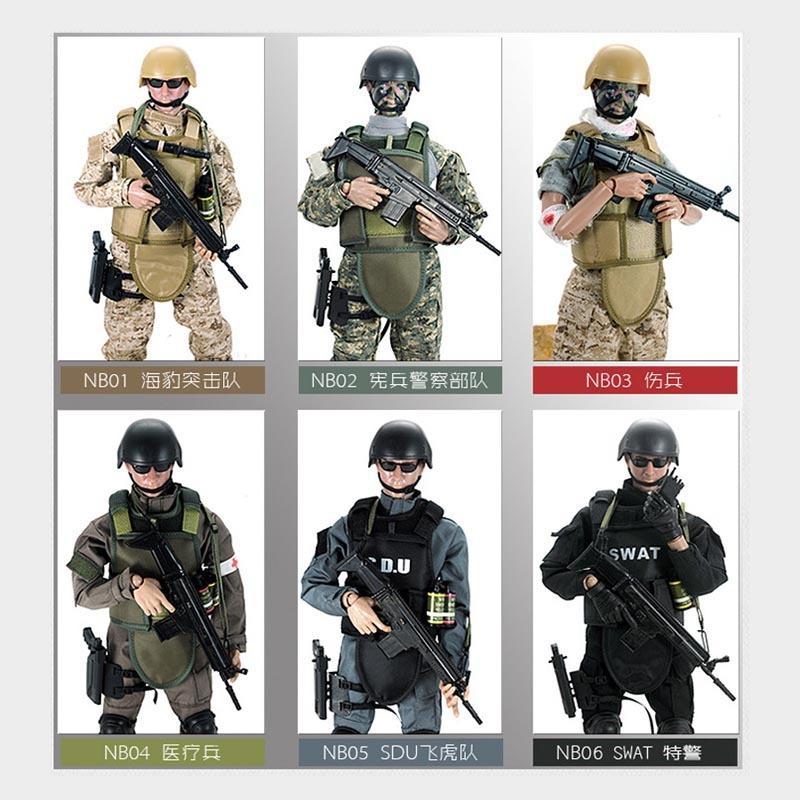 """YENİ! 1 Adet 12"""" 6/1 SWAT SDU SEALs Perakende Kutu Eylem Şekil sıcak Modeli oyuncaklar 1008 ile Üniforma Askeri Ordu Combat Oyun Oyuncak Asker Seti"""
