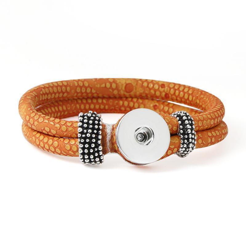 Stretch bracelet Snap DIY 18mm Charm Bracelets Silver Ginger Snap Jewelry Cheap Infinity Leather Bracelets