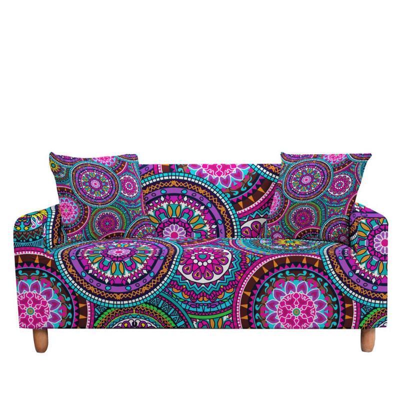 Caso Elastic ethinc Bohemian Flor cobrir sofá poltrona Mobiliário tampa no canto do sofá por Sala Quarto dos miúdos