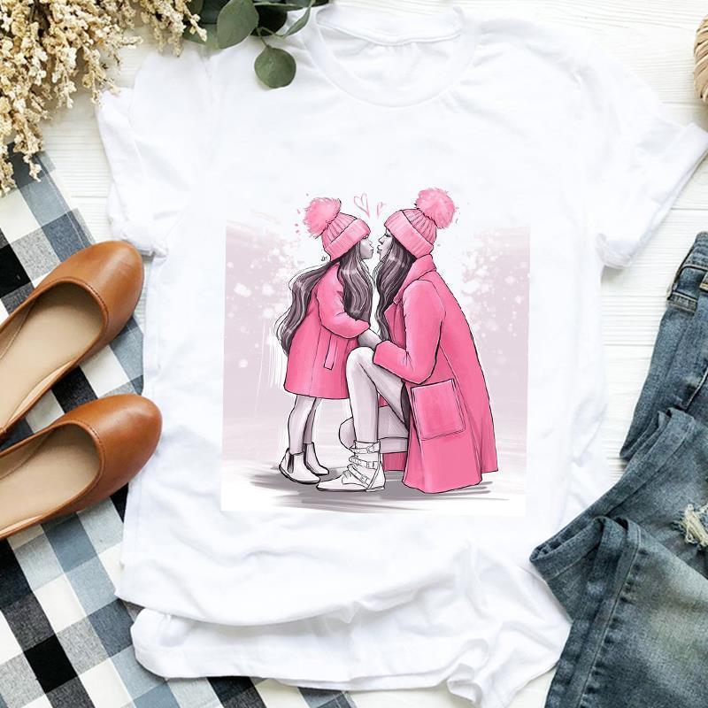 Женщины Рубашка Любовь Печать Одежда Тенденция стиль Любовь Мама Одежда Мама Леди Графический Печатная Тройник Топ Футболка Женская Футболка