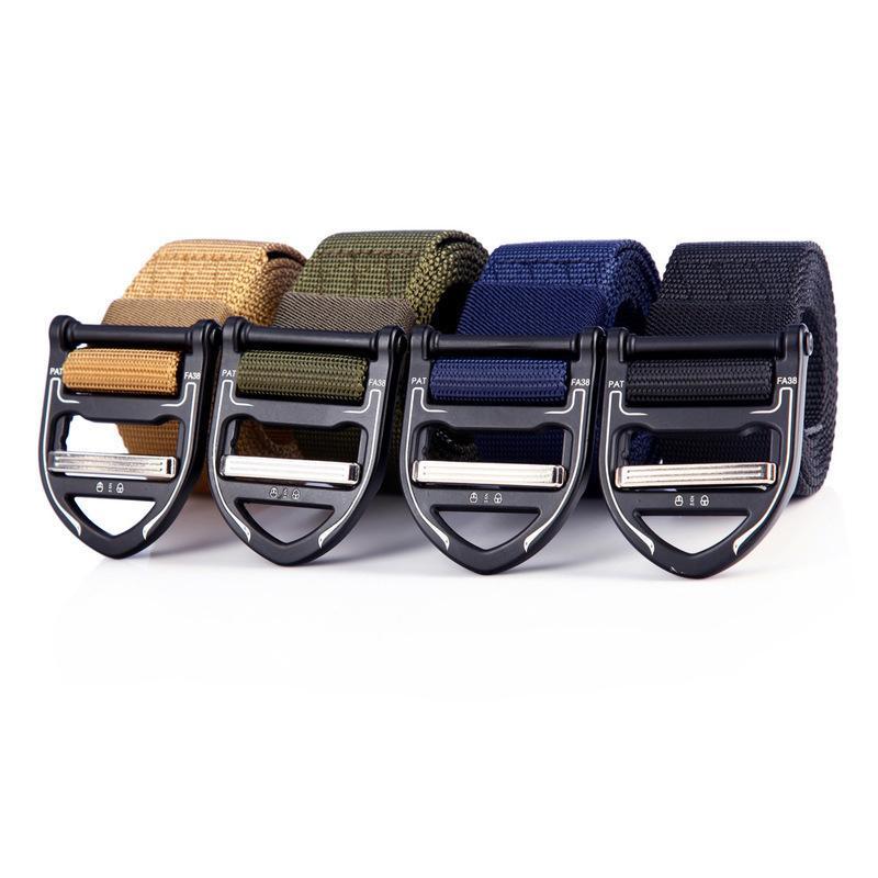 Uscita Belt Buckle tattica esterna Quick Release 3.8 lega Nuovo nylon Cintura uomo
