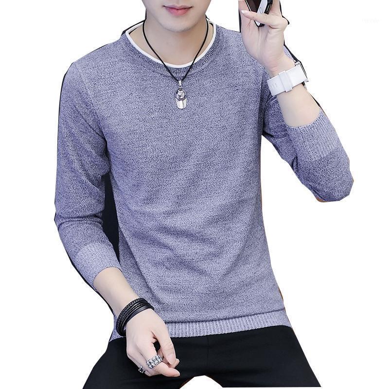 2020 Nuevo suéter para hombre de primavera y otoño de manga larga de manga larga de manga larga para jóvenes suéter delgado suéter tendencia de la venta caliente coreana1