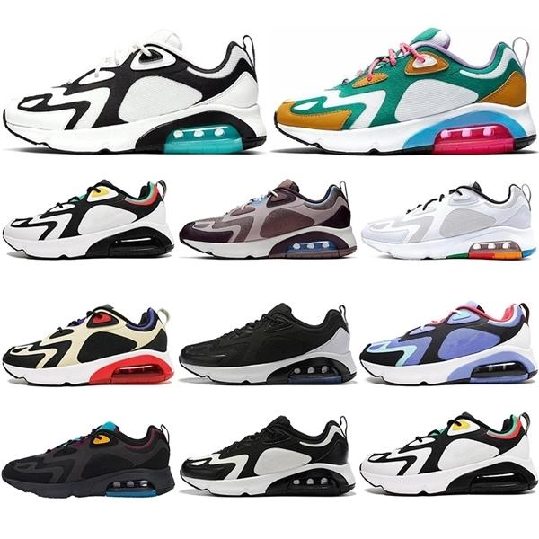2020 200 Hommes de l'Université Rouge Femmes Casual Chaussures Rasta Mystic Green Desert Sand Royal Blue Teal 200s Baskets Sports de plein air