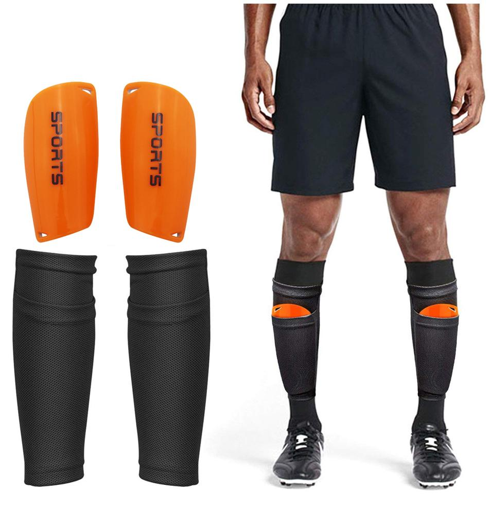 1 Pair Soccer Football Shin Guard Teens Socks Pads Professional Shields Legging Shinguards Sleeves Protective Gear
