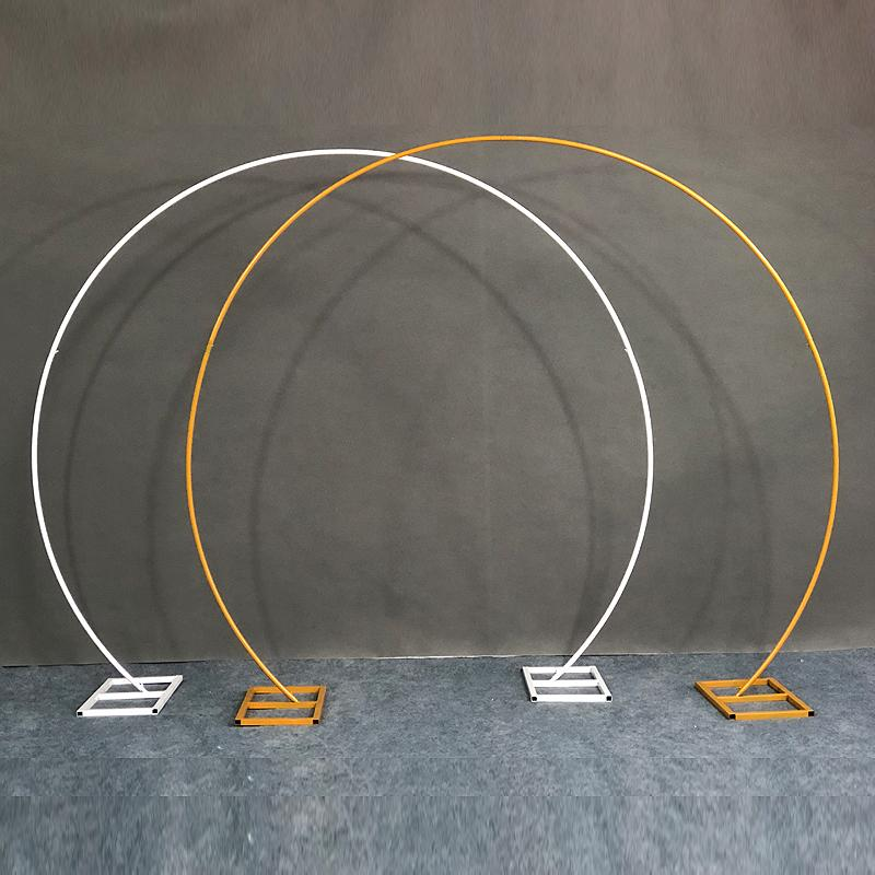 Ouro Branco U / Coração / Redondo Anel Forma Metal Ferro Arco Do Casamento Backdrop Stand Festa Decoração Artificial Flor Balão De Balão De Balão Prateleira