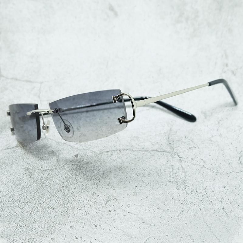 Draht c Männer und Frauen Carter Hiphop-Weinlese-Brillen Markenname Shades Randlos Sonnenbrillen Sommer Sonnenbrille