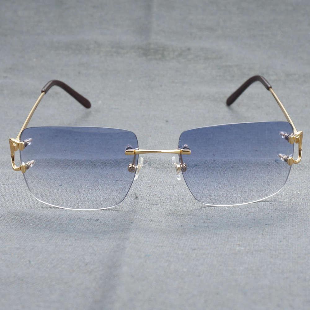 2021 خمر المعتاد بدون شفة نظارات الرجال المرأة أزياء نظارات ل القيادة حزب الديكور نظارات الشمس الإطار