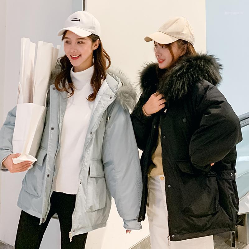 2019 yeni aşağı pamuk ceket kadın kırpılmış ceket kalınlaşmak ekran yaka moda pamuk coat1