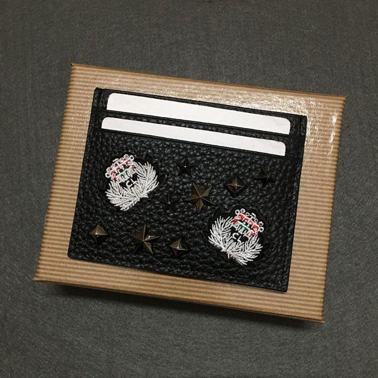 Spot Moda Tırnak Başlığı Katman Kart Sahipleri Dana Kompakt Mini Trend Tutucu Lazer Söğüt Küçük Cüzdan İş Cüzdan