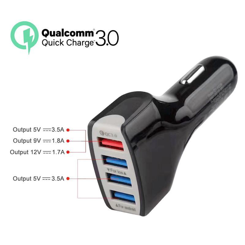 Sıcak satış!!! USB Şarj Cihazı Araç Şarj Adaptörü Hızlı Şarj 1.7A 1.8A 3.5A Liman için en çok satan