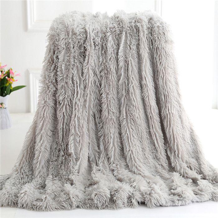 Herbst / Winter Warm Plüsch und Super Soft Kristall Plüsch Doppel verdickte Bett Decke