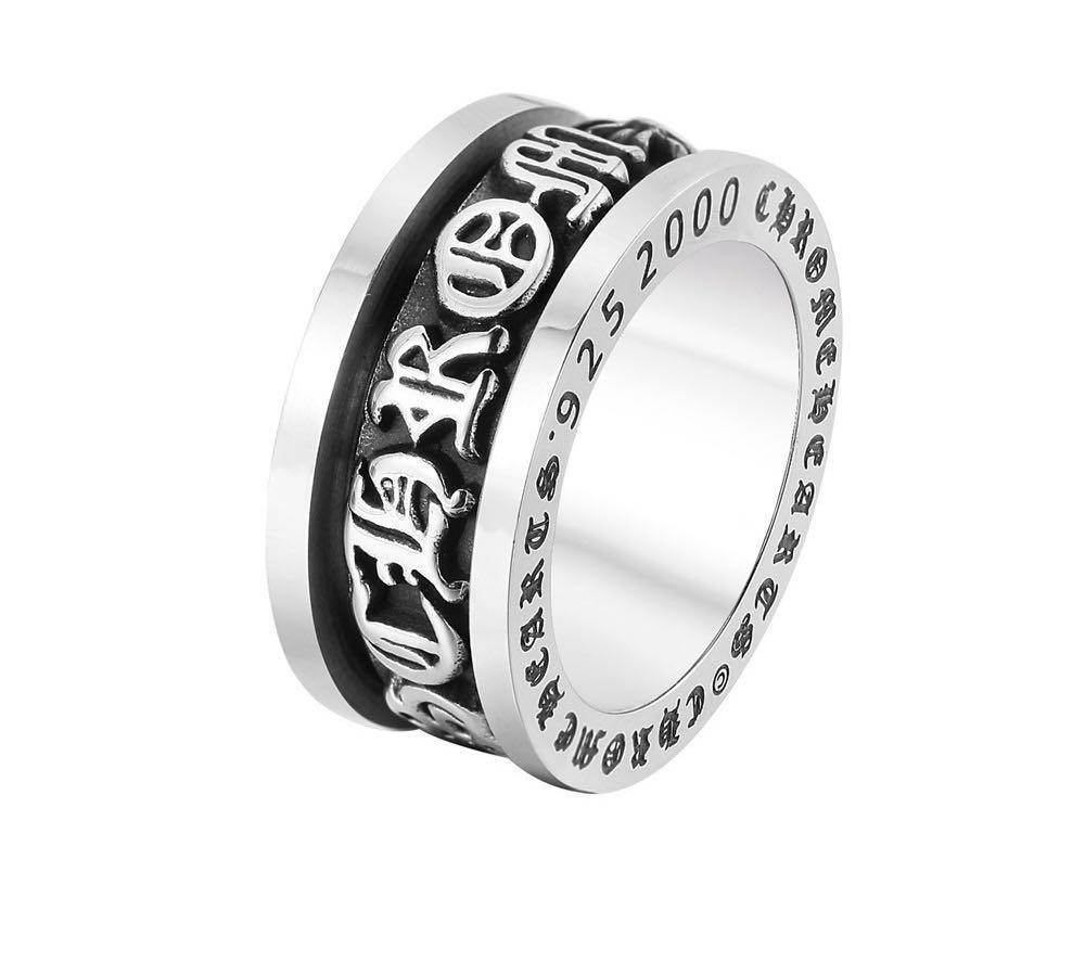 Nuovi uomini americani europei di alta qualità uomini retrò stile motociclista in acciaio inox cromato cuori anello moda punk cross anello gioielli regalo
