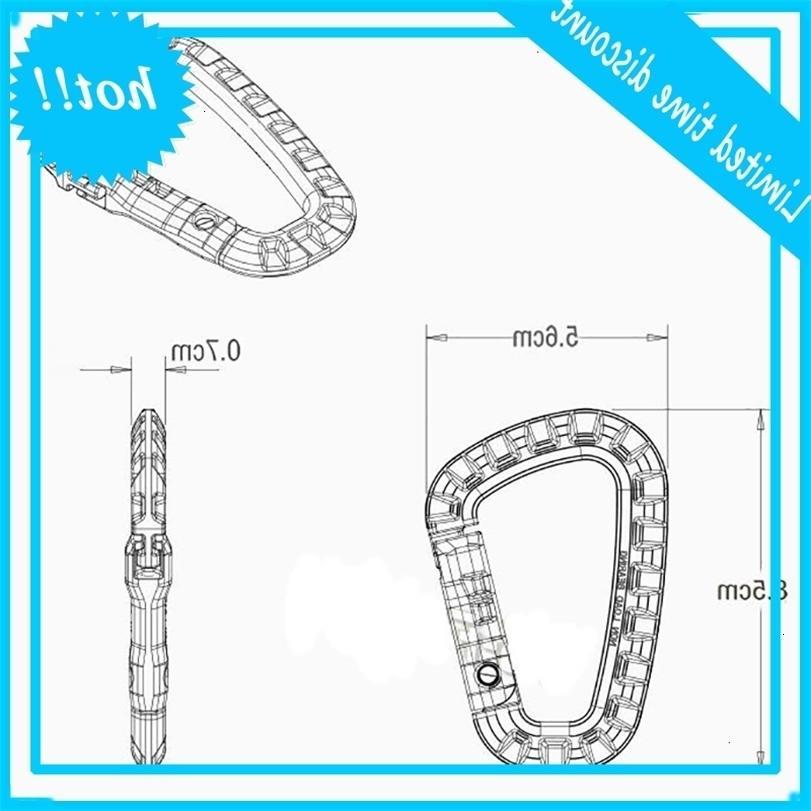 1 PZ D Shape Plastic Snap clip o angol fibbia all'aperto appeso accessori da arrampicata accessori per moschettoni clip
