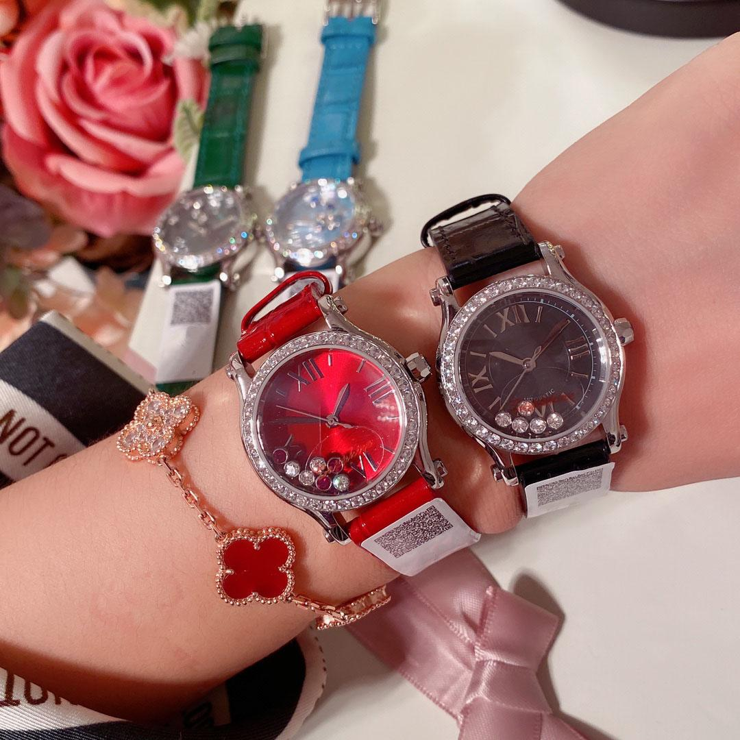 Armbanduhren Frauen Uhren Diamantuhr 30mm Quarzwerk 316l Edelstahlband Hohe Qualität Wasserdicht