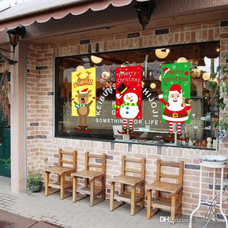 New Merry Christmas Decorations For Home 2020 Ornaments Garland New YearPorch Sign Xmas Door Decor Hanging Cloth Gifts