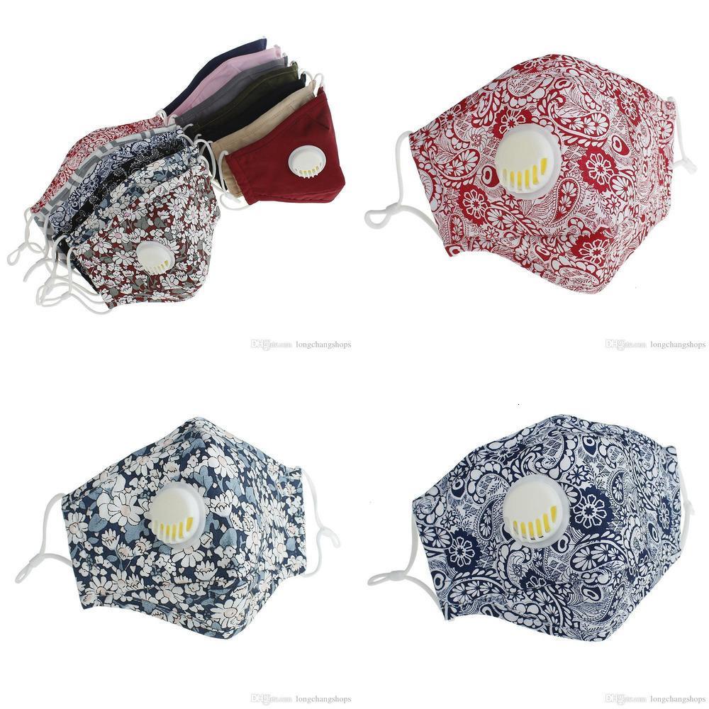 Yüz Yeniden Kullanılabilir Maskeler Yıkanabilir Anti-Toz DHL Maske PM2.5 Vana Koruyucu Pamuk Yüz Maskeleri CTY0D LZKS