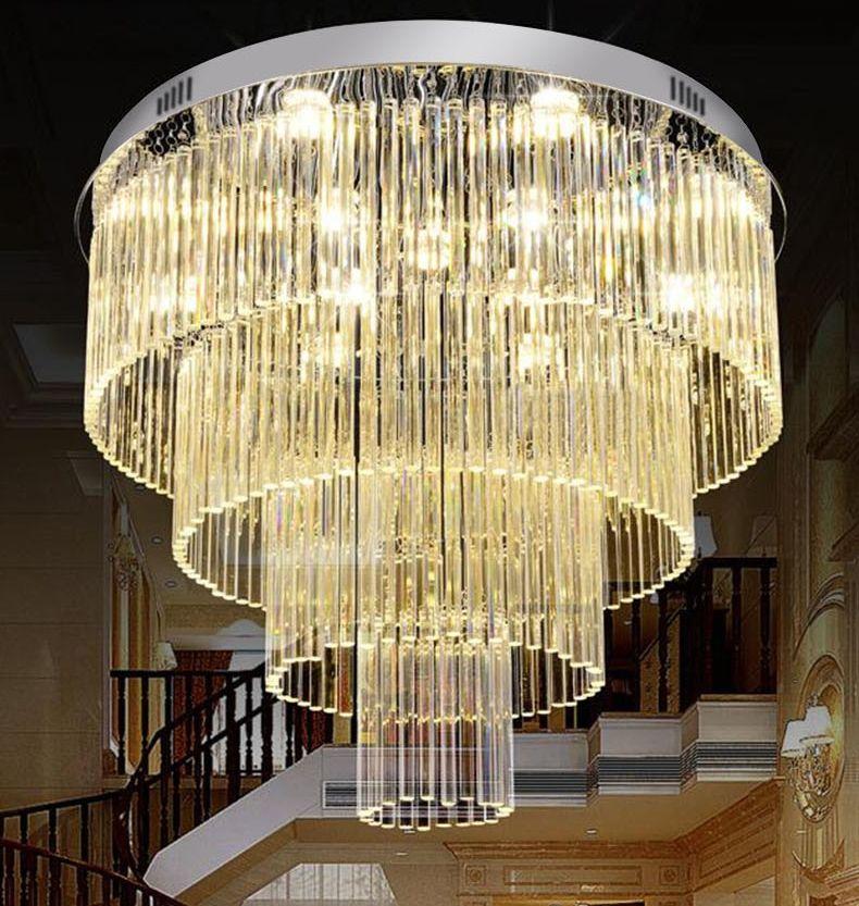 Minimalista moderno lampadario in cristallo camera da letto soggiorno portato lampadario di cristallo illumina Lampade a sospensione di lusso doppia
