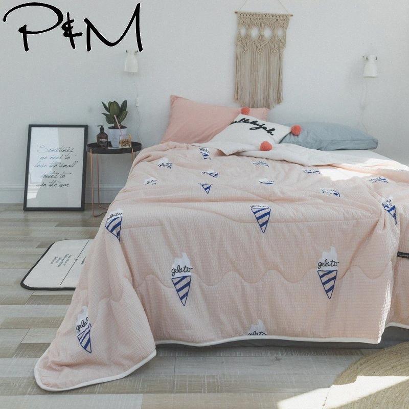 PapaMima Ice Cream Печать Лоскутное Одеяло лето Одеяло Твин Queen Size Одеяло плед 100% хлопок Ткань 1OMY #