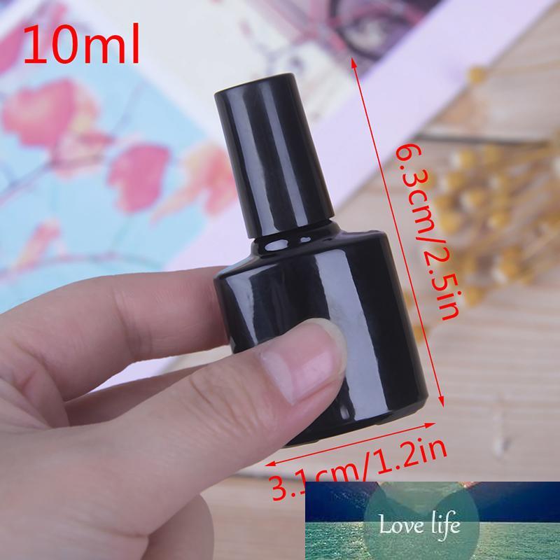 10ml leeren Flasche Nagellack Schwarz Glas Mit Agitator Mischkugeln Nagellack Sub Bottling mit Deckel Bürsten-Kosmetik-Container