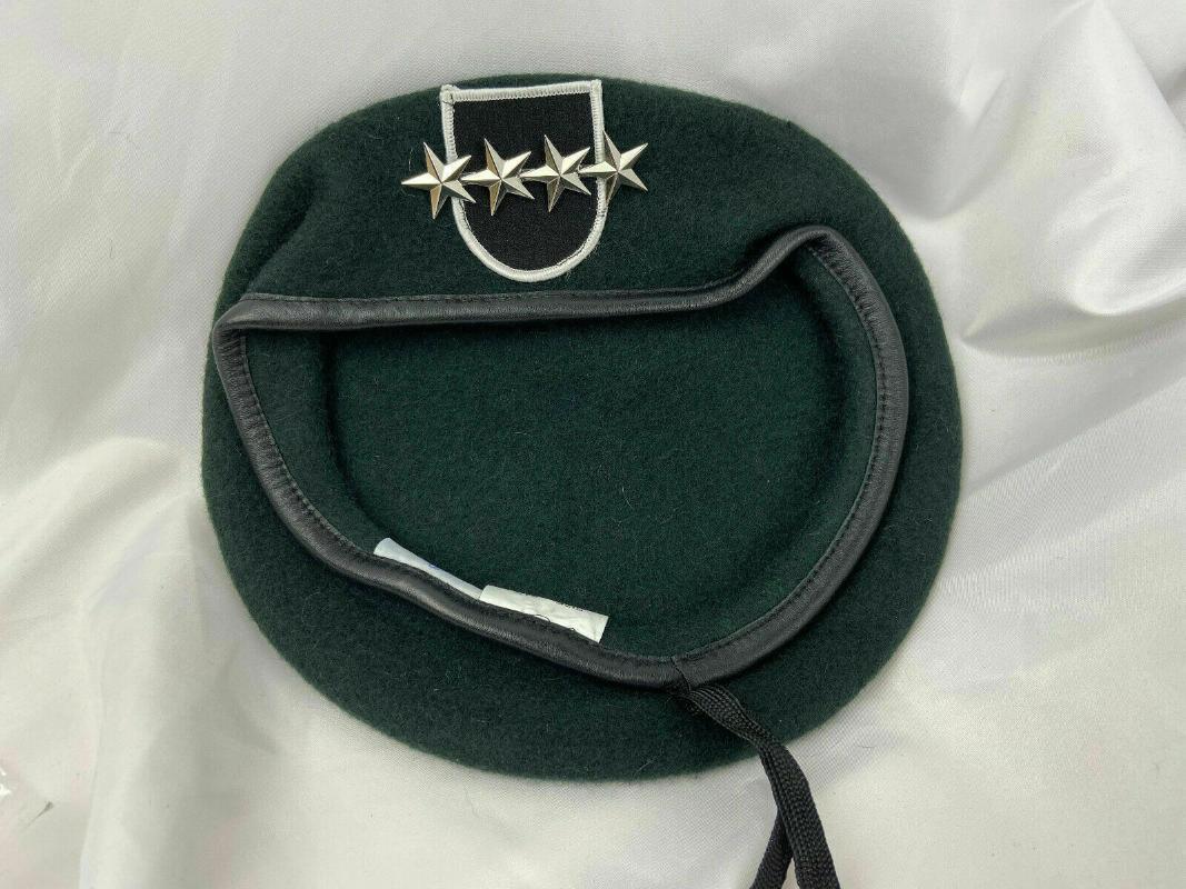 Cap nuevo US 5 Ejército Grupo Especial Fuerzas Verde Oficial de la boina 4 Star General Rango Sombrero