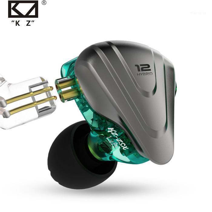 KZ ZSX Terminator Metal в ухе 12 единиц Hybrid 5BA + 1DD Hifi Bass Наушники для шумоподавления Универсальный монитор1
