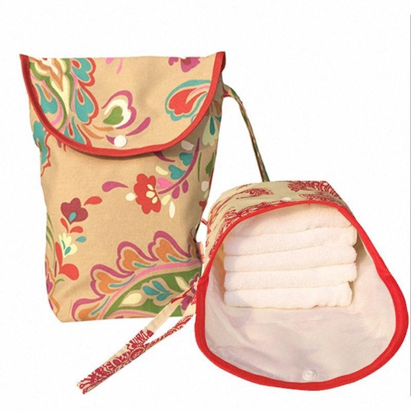 Tek Yeniden kullanılabilir Moda Baskılar Islak Kuru Bezi Çanta Çift Kol Wetbags q3QP için # Bebek Bezi Çanta Annelik Çanta