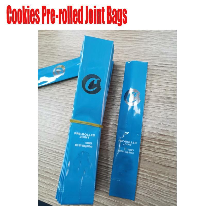 Neue leere Plätzchen Kalifornien SF Pre-Rolled Joint Beutel Verpackung für 0,58 g Dry Herb Geruch Proof Mylar-Tasche