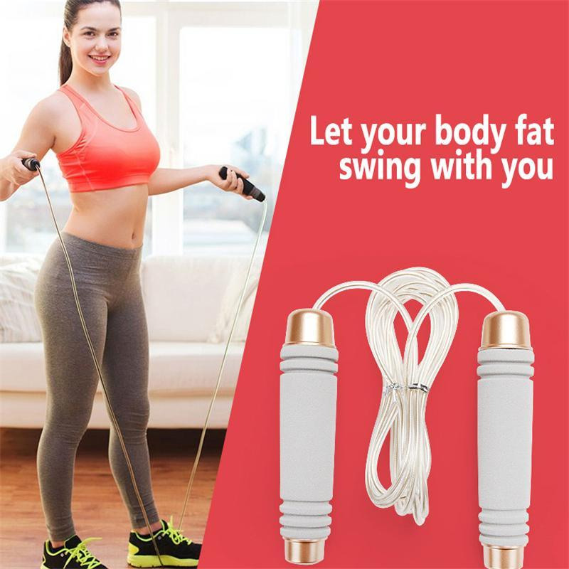 Jump Ropes Handle Bearing Sports Fitness Skipping/Jumping Rope Equipment Gym Adjustable Training Workout