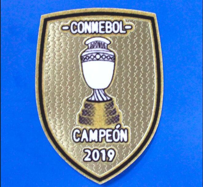 2019 Nakış Parche Brezilya Conmebol Patch de America Copa Amerika Kampı 2019 Şampiyonlar Brasil Futbol Yama Ücretsiz Kargo!