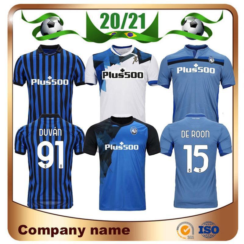 20/21 Atalanta BC Soccer Jerseys 2020 Home L.Muriel Truciale DE Room Gosens Camicia da calcio Ilicic Mancini Away Uniform uniforme