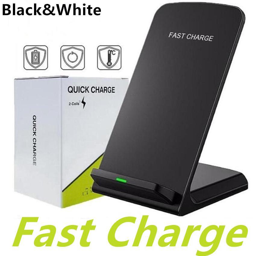 10W Schneller Wireless-Ladegerät Qi-Standard-Halter Schnell aufladendockstation Handy-Ladegerät für iPhone SE2 X XS MAX XR 11 Pro 8 Samsung S20 S10 S9