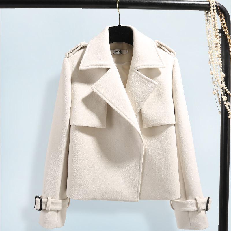 Giacca Donna Autunno E di lana del cappotto del bicchierino di inverno nuova delle donne vestiti delle donne 201009