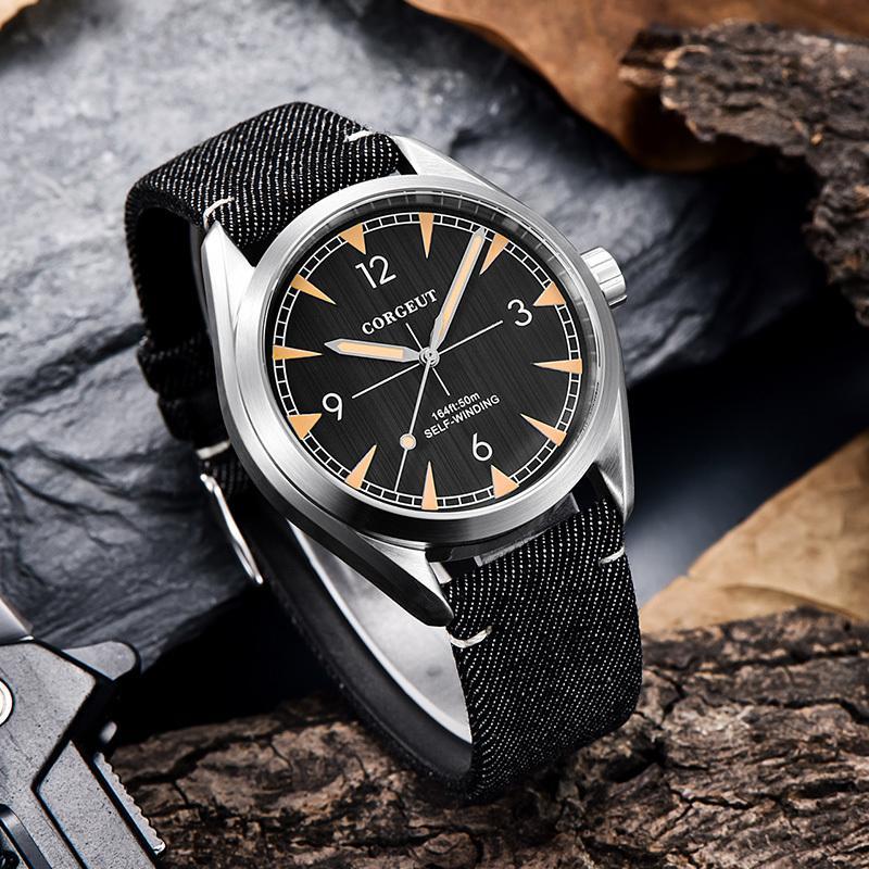 Top Marque Corgeut 41mm Hommes Montre horloge Miyota 8215 Automatique Mécanique de luxe en acier en acier en acier en acier en acier en acier en acier à l'arrière-montre LJ201125