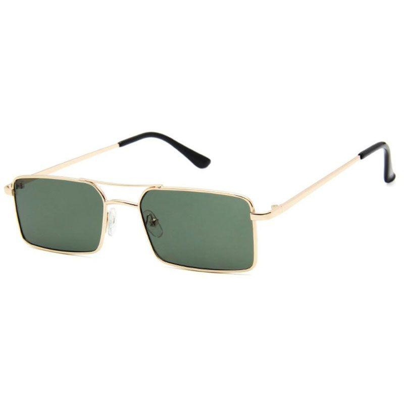 Gafas de sol de metal marcos de diseño del marco del nuevo pequeño gafas de sol de las mujeres de los hombres de Sombras rectángulo Eyewear UV400 Online