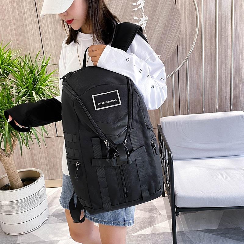 Mochila de viaje al aire libre moda tendencia mochila estudiante escuela escuela deportes marca bolso hombres y mujeres mismo estilo